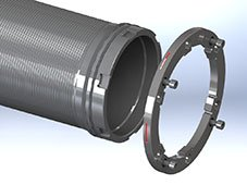 Process cylinder for SSHE